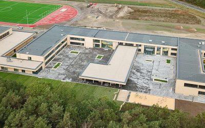 Rohbau Deutsch-Sorbischer Schulkomplex in Schleife