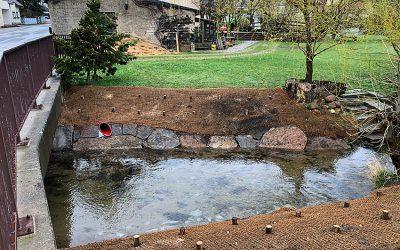 Wuischker Wasser: Beseitigung von Hochwasserschäden